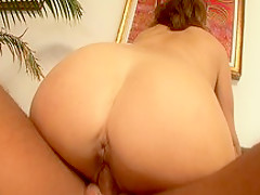Crazy pornstar Rebecca Bardoux in amazing blowjob, brunette sex scene