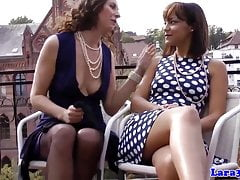British milf and teen finger fucking and eating pussy