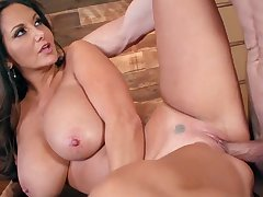 Busty raven triesa out younger guy at the office