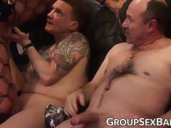 German mom destroyed and creamed during gangbang
