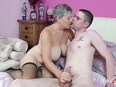 Old increased by young mature hardcore action with busty lady Savana