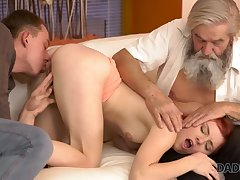 DADDY4K. Adorable Vanessa comes closer to her boyfriend
