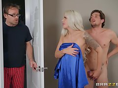 Cheating exhale wife Nina Elle pounds her husband's friend