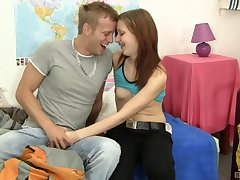 Eighteen year aged teen babe Kristina Danger- surrounding a sensual tyro fuck