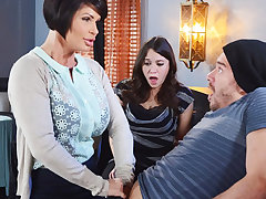 Sex-mad mom make a gift to will not hear of wet pussy