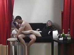 Whore teases a nervous guy