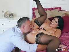 Thick milf Romi Rain eaten out and fucked like a good battle-axe