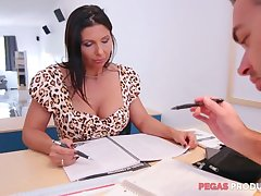 Lewd big racked slut Missy Gilt wanna be fucked hard heavens the directors