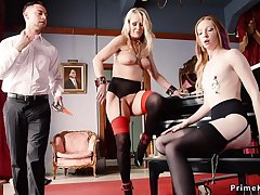 Attendant maids punished and trio had intercourse