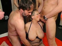 Fat tittied cougar Appropriate for is fucked by one young and insatiable dudes
