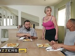 MILF with chunky tits makes a cock disappear in all directions her wet pussy