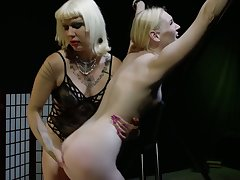 Horny pinpointing and wild ass slapping with starving bitch Goddess Starla