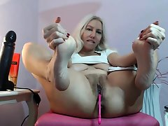 Kirmess mature amateur extreme huge toys insertions