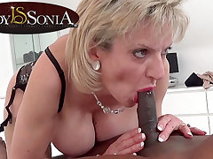 Lady Sonia giant a rub down and oral intercourse to a BIG BLACK CHOPPER