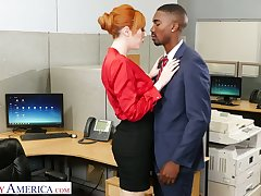 Notion of catching milf Lauren Phillips seduces unstintingly endowed black co-worker
