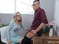 blonde mature Nina Hartley is ready for hard penis after a long day