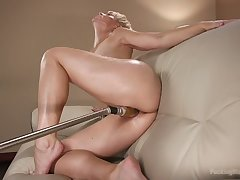 Smoking hot short haired milf Helena Locke is testing mad sex toy